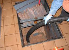 Professional cleaning grease trap